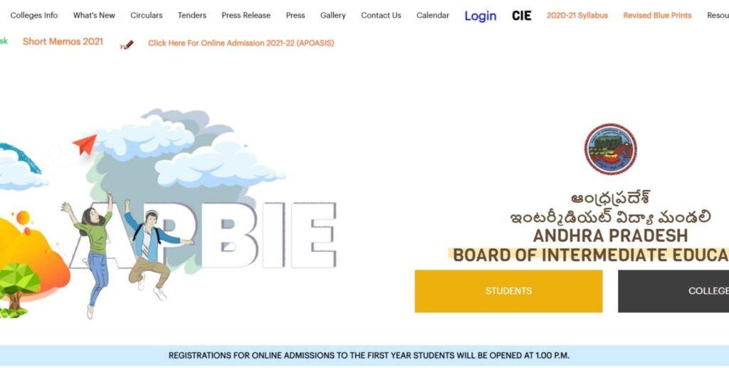 bie.ap.gov.in Intermediate Online Admission 2021-22