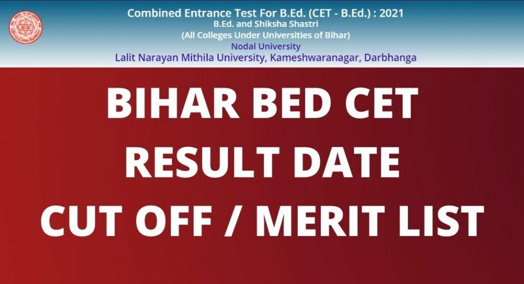 BIHAR BED CET RESULT DATE
