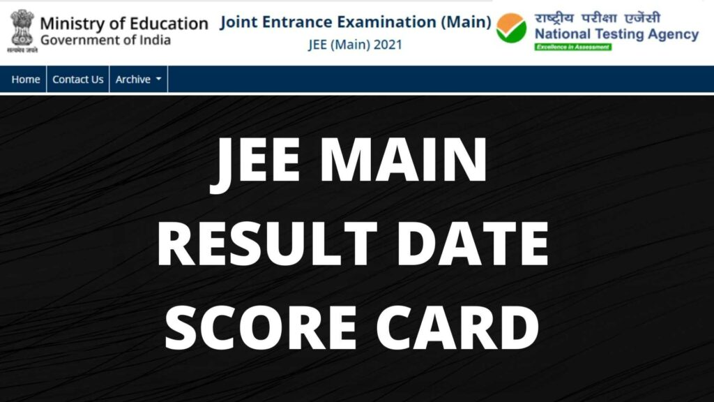 JEE MAIN RESULT DATE