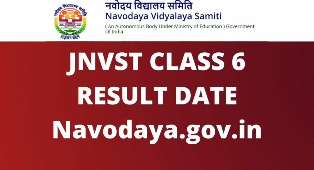 JNVST CLASS 6 RESULT DATE