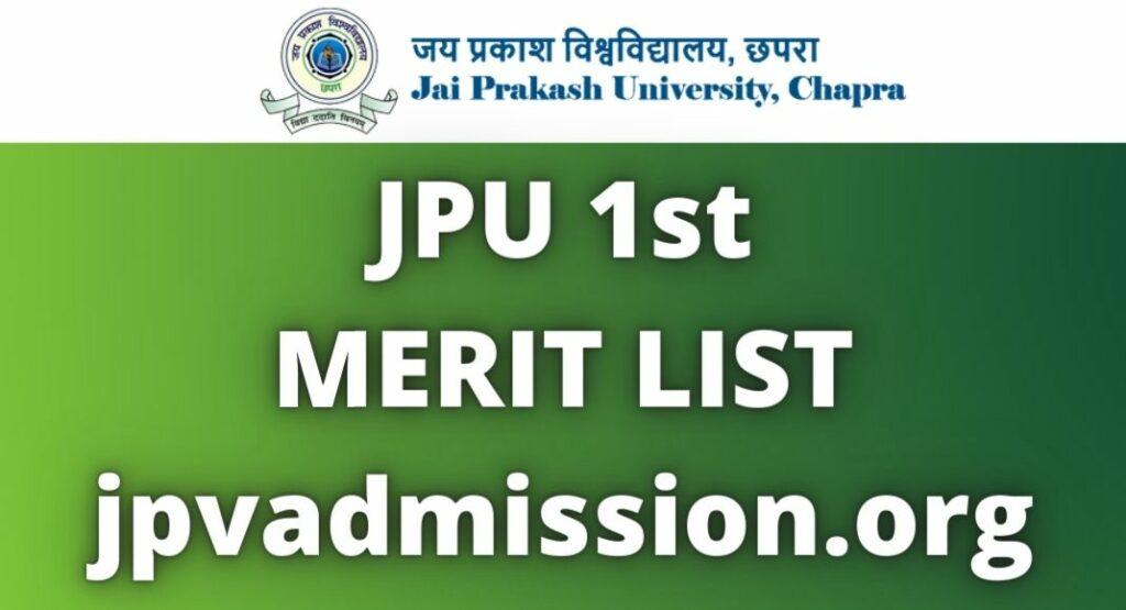 JPU 1st Merit List 2021