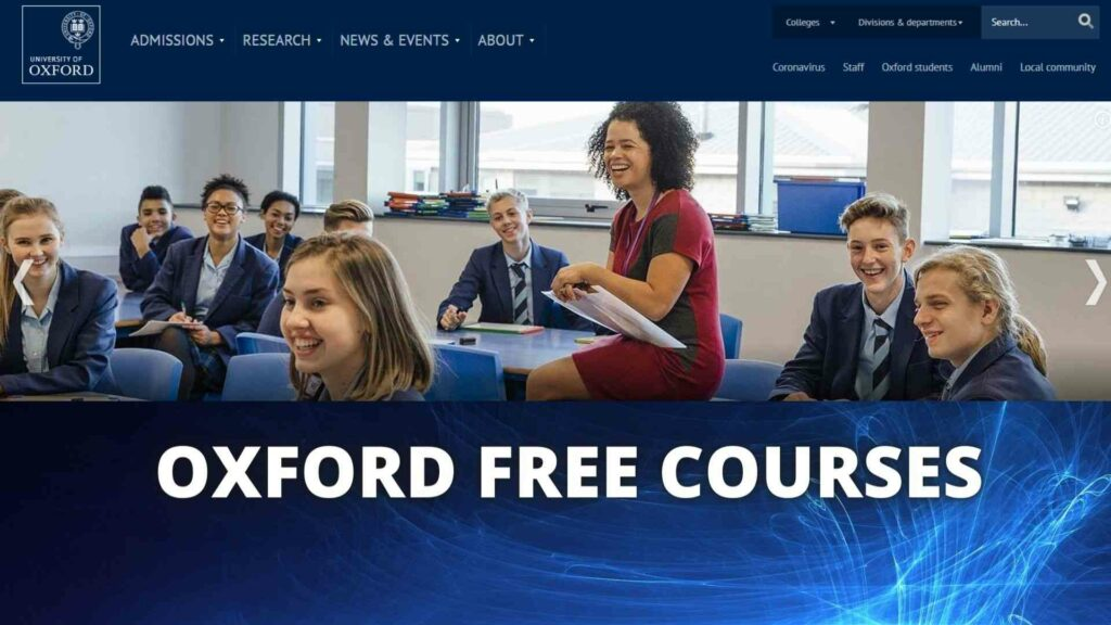 OXFORD FREE COURSES