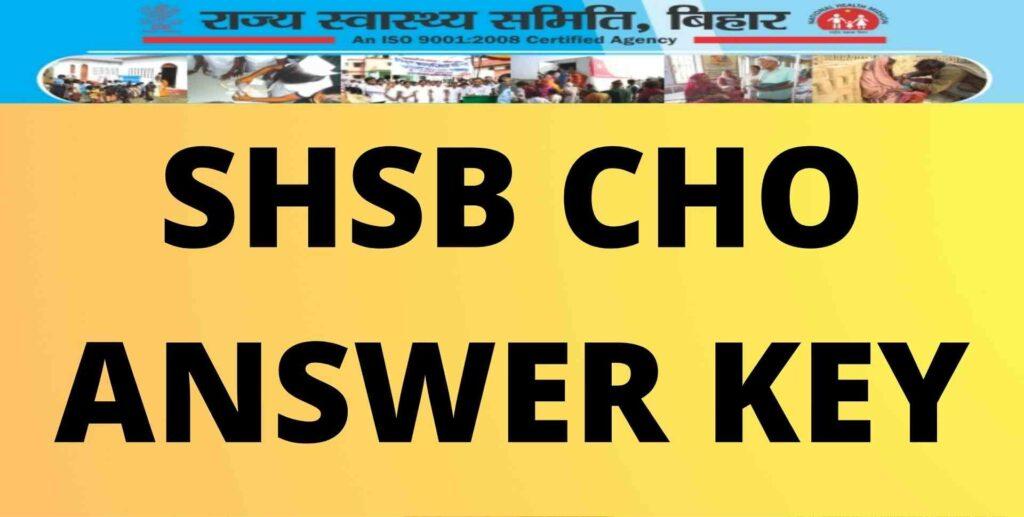 SHSB CHO Answer Key (1)