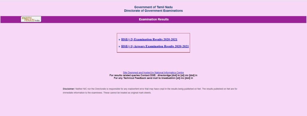 tnresults.nic.in 10th Result 2021 SSLC Results