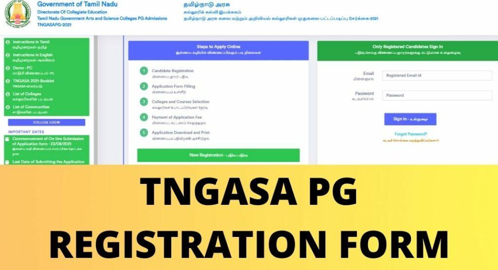 TNGASA PG REGISTRATION FORM