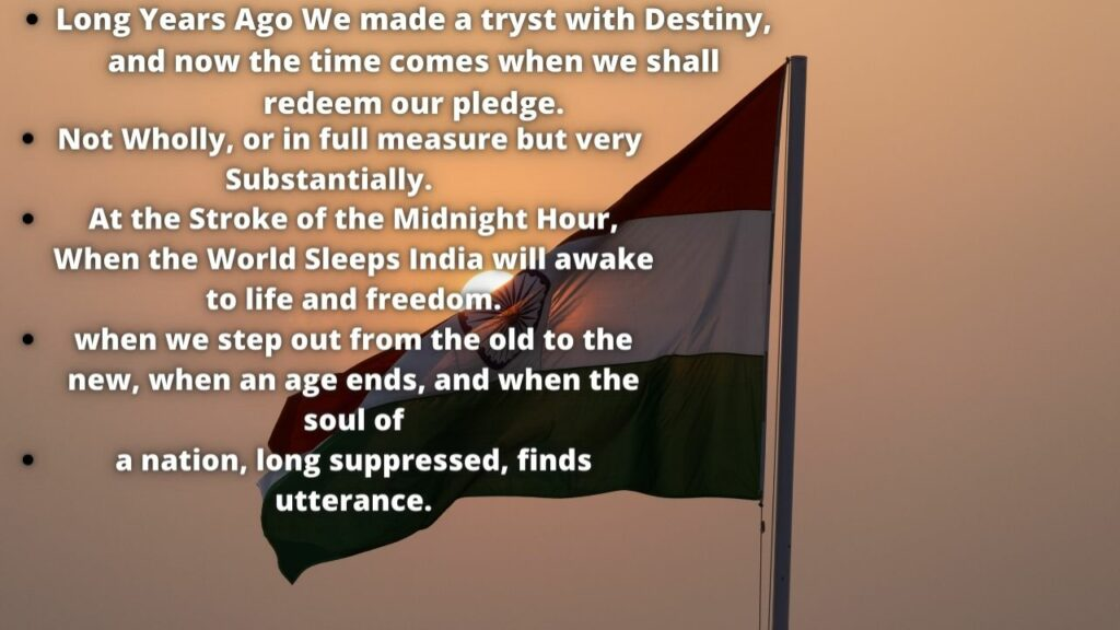 Independence Day Speech 15 August 2021