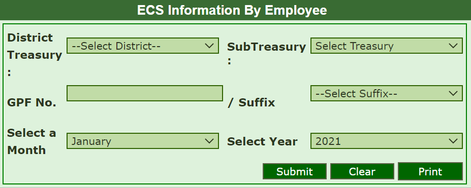 TN ECS Status Check treasury2.tn.gov.in Pension Pay Slip