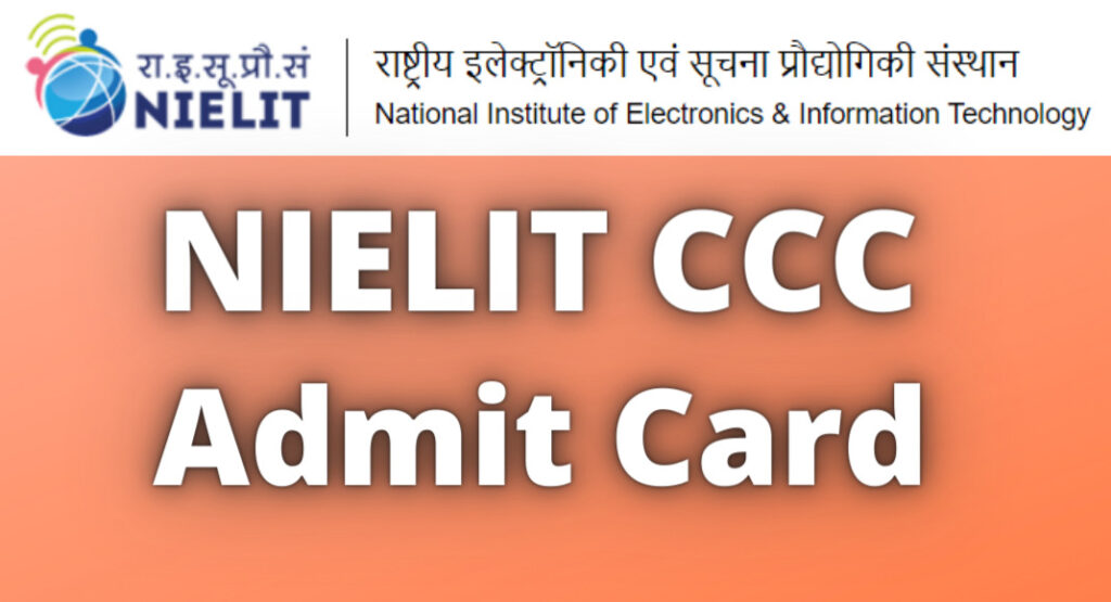 nielit.gov.in CCC Admit Card 2021 Download