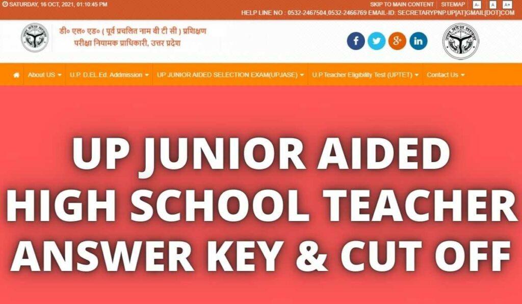 UP Junior Teacher Answer Key