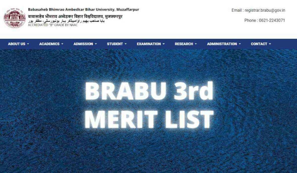 BRABU 3rd Merit List