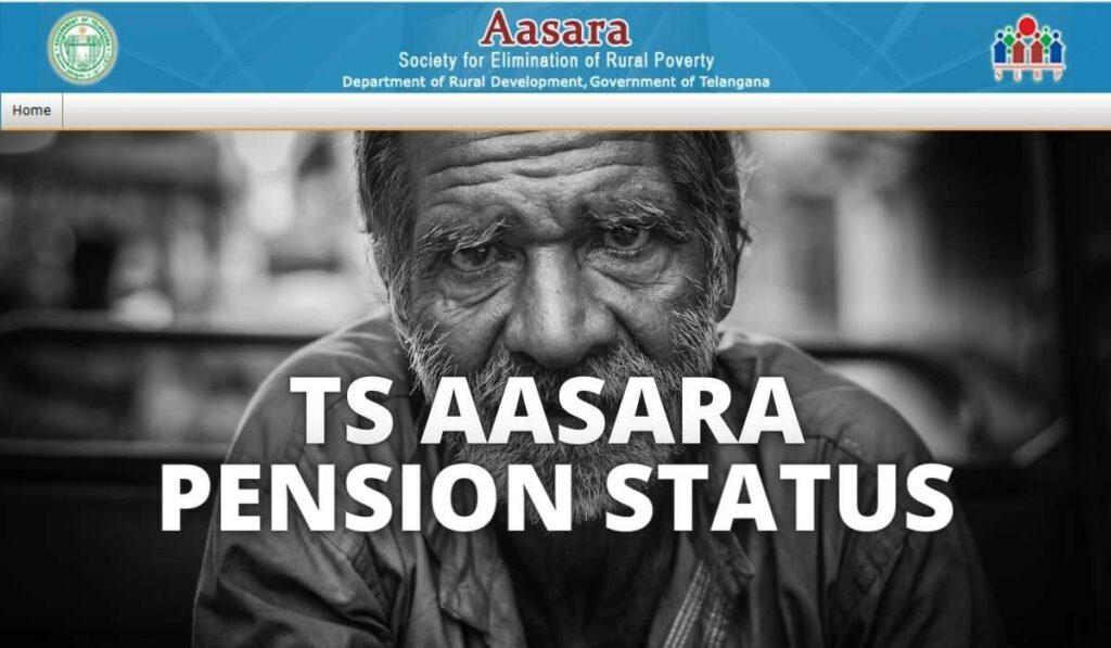 aasara.telangana.gov.in Pension Status