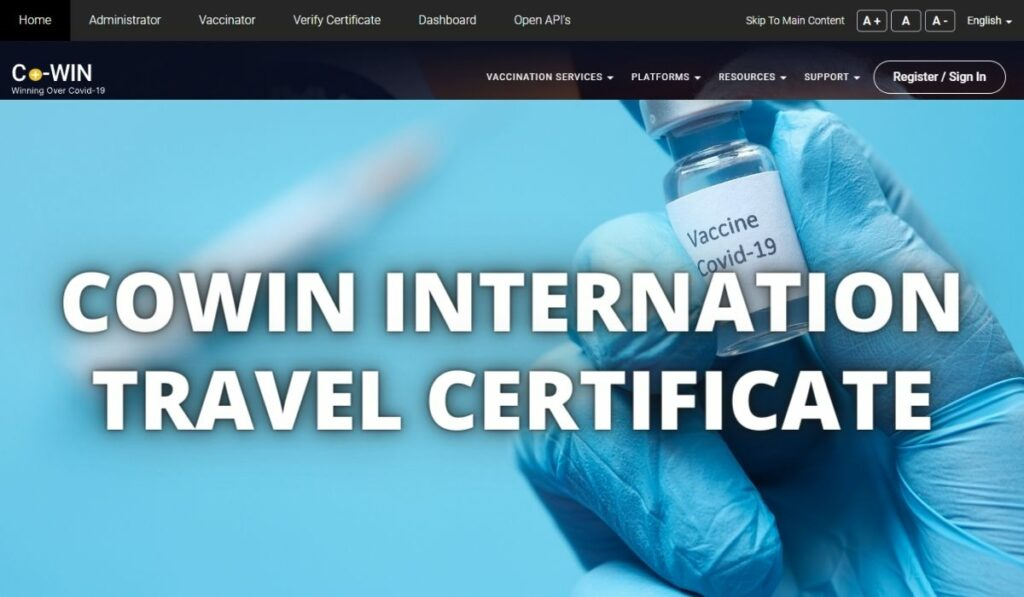 Cowin International Travel Certificate Download - How To on Cowin.gov.in